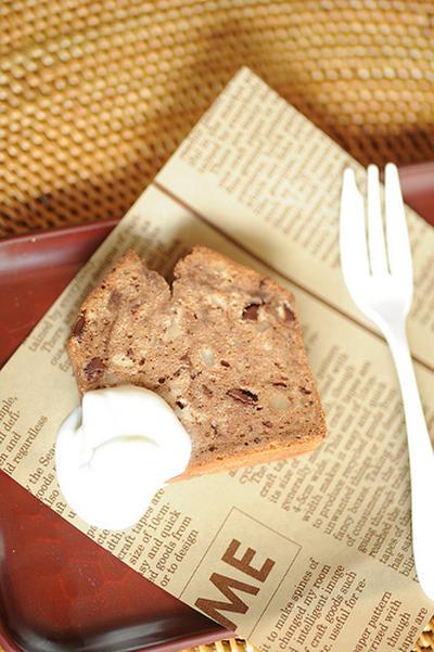 Gâteau pour les adultes: au chocolat, café et noix