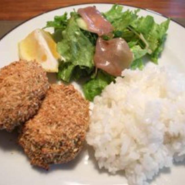 ポテトとキャベツのコロッケ【低脂肪・ノンオイル】