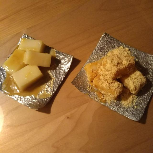[レシピ]余ったお餅のレンジで簡単スイーツ♡くるみゆべし&わらび餅風ひとくち餅♡