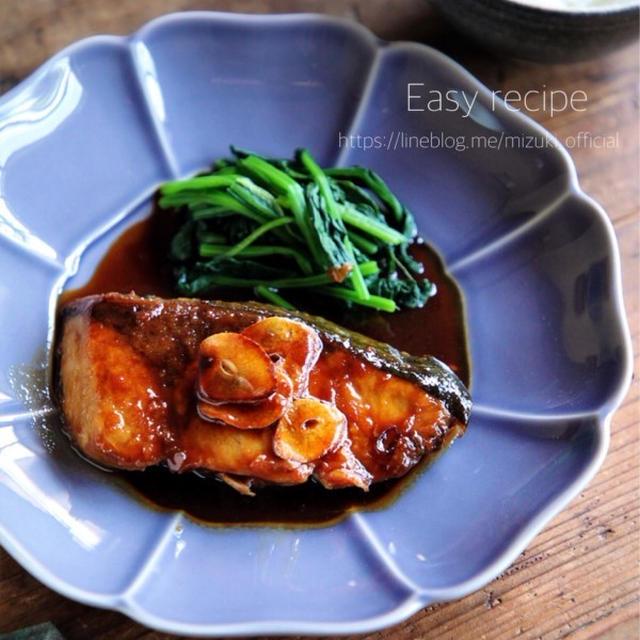 ♡バター醤油で♡ぶりのガーリックソテー♡【#簡単レシピ#魚#フライパン】