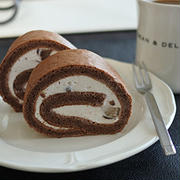 * Suipa 片段 ロールケーキ用箱(台紙付き)「マロンのココアロールケーキ」 *