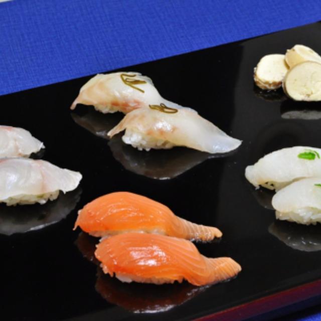 釣り魚、4種の握り寿司  & 助ダチ