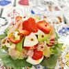 ピリッと可愛い苺のデコレーションカプレーゼ