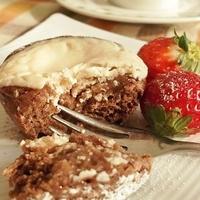 バレンタインに☆チョコIN!焼きヨーグルトココアカップケーキ