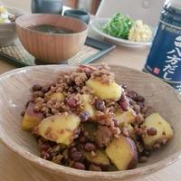 小豆とさつま芋のそぼろ煮
