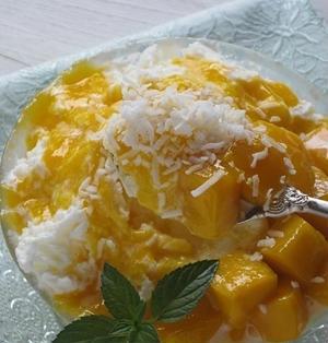 マンゴーのふわふわミルクかき氷