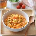 【スパイス】レンチン5分♪韓国風チャーハン♡キムチ&卵で包丁要らず!世界の朝ごはん<主食編>