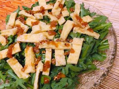 さわやかな梅とごまとポン酢で初夏サラダ