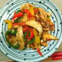鶏肉とピーマンのガーリック醤油炒め