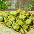 オリーブオイルかけてみた 後片付け簡単!焼き空豆