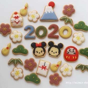 2020 ミッキー&ミニーお正月アイシングクッキー