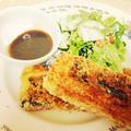 豆腐の海苔&梅干巻き焼き