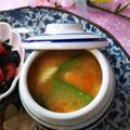 お料理レシピその①★茹で卵と絹さやの味噌汁★