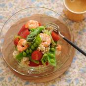 シャキシャキ春野菜のライスサラダ