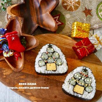 クリスマスツリーの飾り巻き寿司◡̈♩