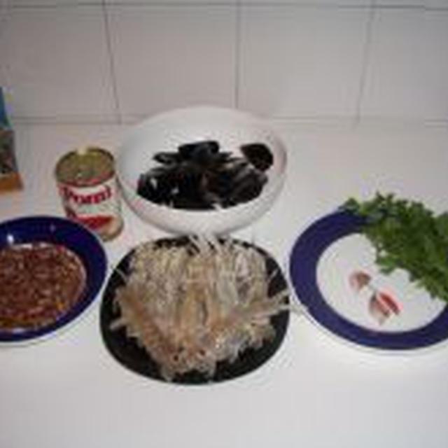 インゲン豆のム-ル貝と海老風味- FAGIOLI COZZE E CROSTACEI