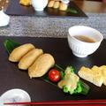 いなり寿司/海老のフリッターとポテトチップの巻き寿司