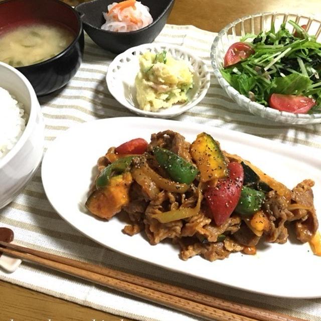 子供大好き♡豚肉とたっぷり野菜のケチャカレー炒め♪マイルドで食べやすいよぉ〜