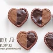 生クリーム不要!レンジで完成♩市販のタルトを使って簡単生チョコタルト-チョコレート*バレンタイン