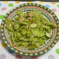 [間引きサニーレタスで]お手軽グリーンサラダ