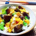 アレンジ1分☆ナスのサッパリ煮でトロ〜り卵とじ丼♪〈夏バテ回避〉 by Lynさん