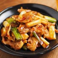 鶏ハラミと長ねぎの照り焼き