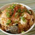 缶詰で簡単!「鯖の味噌煮とキムチの炊き込みご飯」