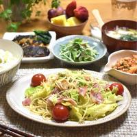 【レシピ】春キャベツのじゃこレモンスパゲッティ✳︎カルシウム補給✳︎旬野菜…試合前日晩ごはん。