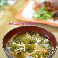 お気に入りのお味噌汁!焼きあごと焼き煮干の合わせだしで作る「大根とアオサのお味噌汁」