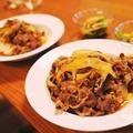 グラスフェッドビーフと赤身牛で作る牛丼と、自然栽培の小松菜のお浸しで、ガッツリお家ランチ