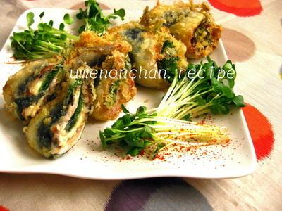 梅しそチーズの鰯の天ぷら*・゜゚・*:.。..。.:*・゜