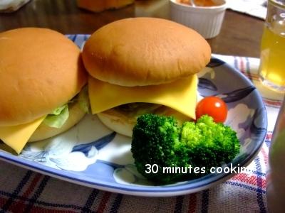 >お家DEチーズハンバーガー by えみママさん