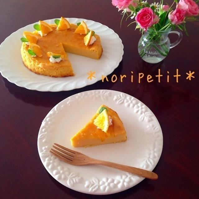 簡単♡ミキサーde混ぜて焼くだけ♡オレンジ香るさつまいもケーキ♡と逆玉タイプ⁉︎