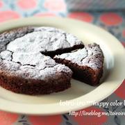 簡単混ぜるだけ!濃厚チョコレートケーキ♡