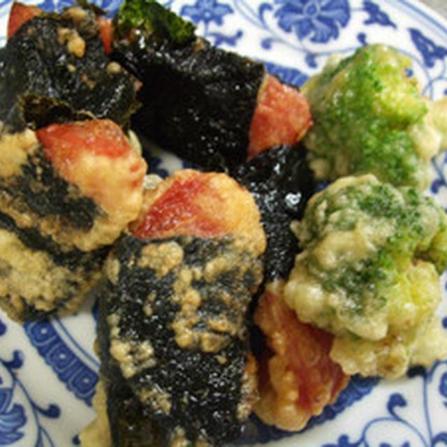 ブロッコリー&トマトの天ぷら