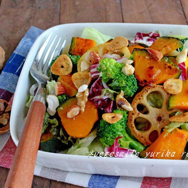 根菜とナッツの美肌サラダ