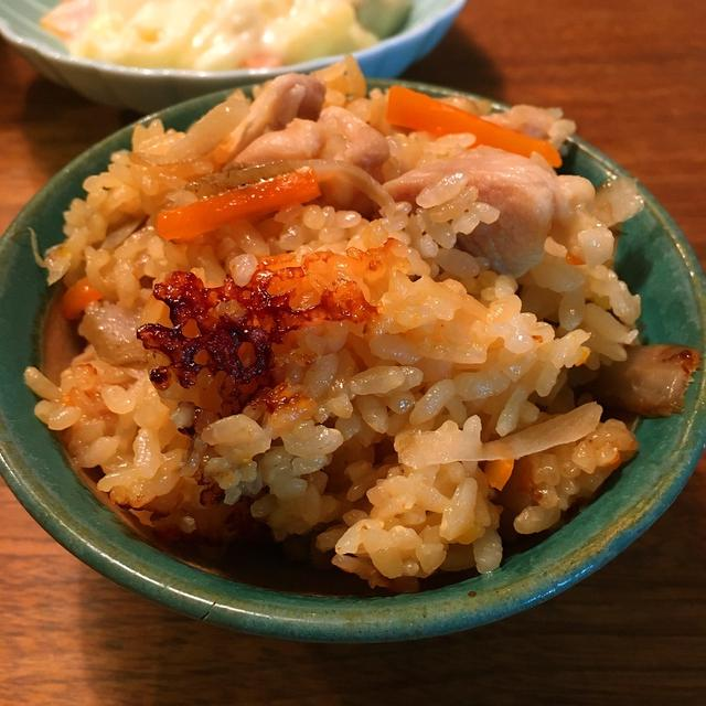 [レシピ]鶏めし ゴボウたっぷり!濃い目の味付けがおいしいですよ!