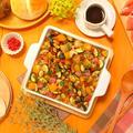 ピンクペパーで華やかさと香りをプラス~☆彩り野菜のグリルたっぷり♪アツアツ!ホットペンネサラダ さっぱり爽やかバルサミコソース添え -Recipe No.1662-【Japanese】