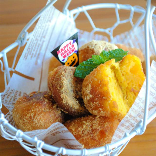 ホットケーキミックスで♪もちもち かぼちゃドーナツ ☆