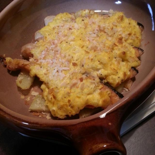 鮭のタルタルオーブン焼き