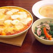 ニョッキとモッツァレラチーズの野菜焼き