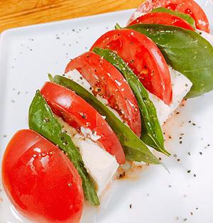 塩麹豆腐を作って和風カプレーゼ