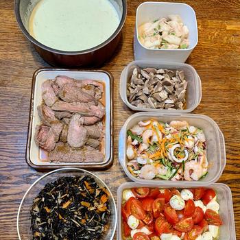 *常備菜のおかげで10分で出来た今日のお弁当*