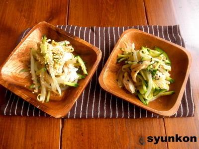 【簡単!!】ささみときゅうりともやしのサラダ