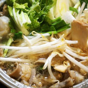 ■晩ご飯のおかずは【もつ鍋】プチっと鍋タレで簡単に!!