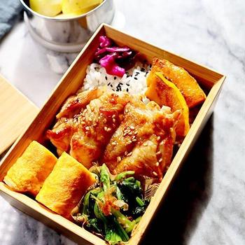 チキン照り焼き弁当♡【#お弁当#簡単レシピ】