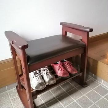 使ってみた☆玄関椅子