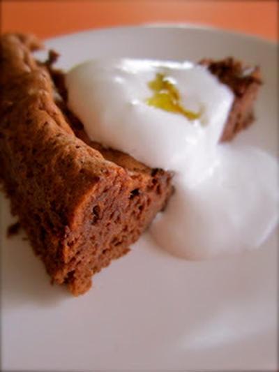 Orange Marmalade gateau au chocolat no butter, no flour in it! オレンジマーマレードガトーショコラ
