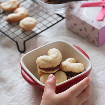 【レシピ】米粉で作るガナッシュクッキー