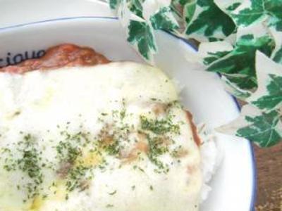 超簡単リメイク♪カレー&トマトソースのフレッシュドリア☆